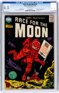 Golden Age (1938-1955):Science Fiction, Race For the Moon #3 (Harvey, 1958) CGC FN+ 6.5 Off-white pages....