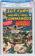 Silver Age (1956-1969):War, Sgt. Fury and His Howling Commandos #10 (Marvel, 1964) CGC VF 8.0 Off-white to white pages....