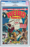 Bronze Age (1970-1979):Horror, Weird Wonder Tales #8 White Mountain Pedigree (Marvel, 1975) CGC NM9.4 White pages....
