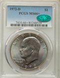 Eisenhower Dollars, 1972-D $1 MS66+ PCGS. CAC. PCGS Population (470/14 and 23/0+). NGC Census: (321/4 and 0/0+). Mintage: 92,548,512....