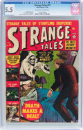 Golden Age (1938-1955):Horror, Strange Tales #13 (Atlas, 1952) CGC FN- 5.5 Off-white to whitepages....