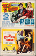 "Movie Posters:Western, The Restless Breed & Others Lot (20th Century Fox, 1957). Half Sheets (8) (22"" X 28"") Style A. Western.. ... (Total: 8 Items)"