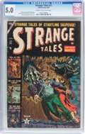 Golden Age (1938-1955):Horror, Strange Tales #21 (Atlas, 1953) CGC VG/FN 5.0 Cream to off-whitepages....