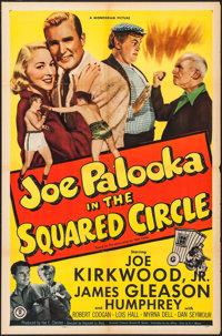 "Joe Palooka in the Squared Circle (Monogram, 1950). One Sheet (27"" X 41""), Title Lobby Card & Lobby Cards..."