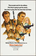 "Movie Posters:War, Where Eagles Dare (MGM, 1968). One Sheet (27"" X 41"") Style C. War.. ..."