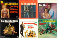 "James Bond U.S. Release Soundtrack LP Lot (Various, 1962 - 2012). 33 1/3 RPM Records (20) (12.5"" X 12.5"")..."