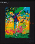 Golf Collectibles:Autographs, Circa 1980 LeRoy Neiman Signed Print....