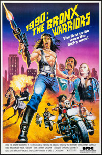 """1990: The Bronx Warriors & Other Lot (United Film Distribution, 1982). One Sheets (2) (27"""" X 41"""") Flat..."""