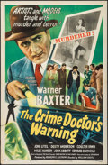 "Movie Posters:Mystery, The Crime Doctor's Warning (Columbia, 1945). One Sheet (27"" X 41"").Mystery.. ..."