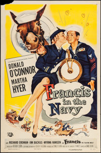 "Francis in the Navy (Universal International, 1955). One Sheet (27"" X 41""). Comedy"