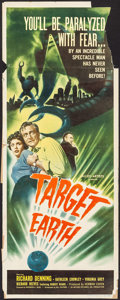 "Movie Posters:Science Fiction, Target Earth (Allied Artists, 1954). Insert (14"" X 36""). ScienceFiction.. ..."