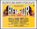 "Movie Posters:Academy Award Winners, Ben-Hur (MGM, R-1969). Half Sheet (22"" X 28"") & Uncut ExhibitorPortfolio (Multiple Pages, 14"" X 19""). Academy Award Winners...(Total: 2 Items)"