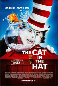 "Cat in the Hat & Other Lot (Universal, 2003). One Sheets (2) (27"" X 40"") DS Advance. Adventure"