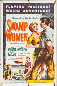 """Swamp Women (Woolner Brothers, 1956). One Sheets (2) Identical (27"""" X 41""""). Bad Girl. ... (Total: 2 Items)"""