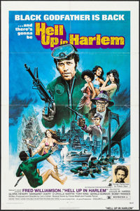 "Hell Up in Harlem (American International, 1973). One Sheet (27"" X 41""). Blaxploitation"