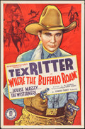 "Movie Posters:Western, Where the Buffalo Roam (Monogram, 1938). One Sheet (27"" X 41""). Western.. ..."