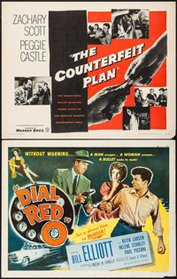 """Dial Red O & Others Lot (Allied Artists, 1955). Half Sheet (7) (22"""" X 28""""). Crime. ... (Total: 7 Items)"""