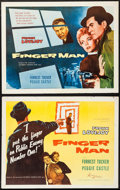 "Movie Posters:Film Noir, Finger Man & Others Lot (Allied Artists, 1955). Half Sheets (7)(22"" X 28"") Styles A & B. Film Noir.. ... (Total: 7 Items)"