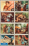 "Movie Posters:Adventure, The Hidden City (Monogram, 1950). Lobby Card Set of 8 (11"" X 14"").Adventure.. ... (Total: 8 Items)"
