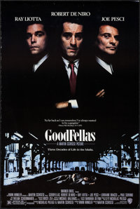 """Goodfellas (Warner Brothers, 1990). One Sheet (27"""" X 40.25"""") DS. Crime"""