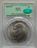 Eisenhower Dollars, 1976-D $1 Type Two MS67 PCGS. CAC....