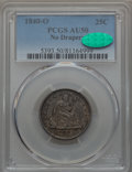 Seated Quarters: , 1840-O 25C No Drapery AU50 PCGS. CAC. PCGS Population (7/55). NGC Census: (13/64). Mintage: 382,200. CDN Wsl. Price for pro...