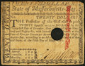 Colonial Notes, Massachusetts May 5, 1780 $20 Fine-Very Fine, HOC.. ...