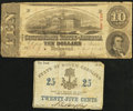 Confederate Notes, T59 $10 1863 PF-16 Cr. 437;. (Charleston), SC- State of South Carolina 25? Feb. 1, 1863.... (Total: 2 notes)