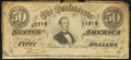 Confederate Notes:1864 Issues, T66 $50 1864 PF-3 497.. ...