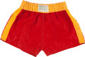 Boxing Collectibles:Memorabilia, 1960 Cassius Clay (Muhammad Ali) Training Worn & Signed Boxing Trunks....