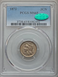 Three Cent Nickels: , 1872 3CN MS65 PCGS. CAC. PCGS Population (26/16). NGC Census: (22/3). Mintage: 861,000. CDN Wsl. Price for problem free NGC...