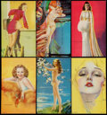 "Non-Sport Cards:Sets, 1940's Mutoscope ""All American Girls"" Near Set (29/32). ..."