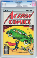Modern Age (1980-Present):Superhero, Action Comics #1 Reprint (DC, 1988) CGC NM/MT 9.8 White pages....