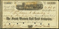 Miscellaneous:Other, Savannah, GA- South Western Rail Road Stock Certificate July 29,1872...
