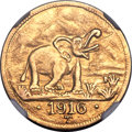 German East Africa, German East Africa: German Colony - Wilhelm II gold 15 Rupien1916-T MS63 NGC,...