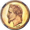 France: Napoleon III gold Proof Essai 5 Dollars - 25 Francs 1867 PR66 Cameo NGC