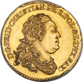 German States:Saxony, German States: Saxony. Friedrich Christian gold Ducat 1763 AU Details (Cleaning) PCGS,...