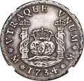 Mexico, Mexico: Philip V 4 Reales 1734 Mo-MF XF Details (Surface Hairlines)NGC,...