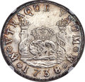 Mexico, Mexico: Philip V 4 Reales 1738 Mo-MF AU Details (Surface Hairlines)NGC,...