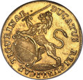 Switzerland: Zurich. City gold Ducat 1741 MS64 NGC