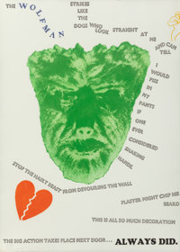 Jim Dine (American, b. 1935) Wall, 1967 Screenprint in colors with photo-etching and embossing on Cr
