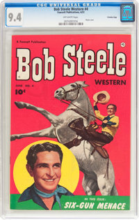 Bob Steele Western #4 Crowley Copy Pedigree (Fawcett Publications, 1951) CGC NM 9.4 Off-white pages