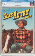 Golden Age (1938-1955):Western, Gene Autry Comics #9 Mile High Pedigree (Dell, 1947) CGC NM+ 9.6White pages....