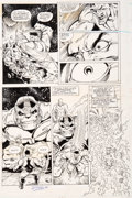 Original Comic Art:Panel Pages, Ron Lim and Bruce N. Solotoff Infinity Gauntlet #4 Page 10Hulk and the Vision Original Art (Marvel, 1991)....
