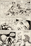 Original Comic Art:Panel Pages, Jack Kirby and Vince Colletta Thor #150 Story Page 15Original Art (Marvel, 1968)....