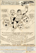 Original Comic Art:Splash Pages, Curt Swan and Frank Chiaramonte Superman #372 Splash Page 1Original Art (DC, 1982)....