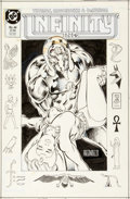 Original Comic Art:Covers, Vince Argondezzi Infinity Inc. #44 Cover Original Art (DC,1987)....