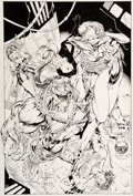 Original Comic Art:Covers, J. Scott Campbell and Alex Garner Gen 13 #3 Cover PittOriginal Art (Image, 1994)....
