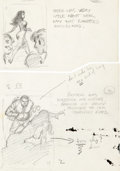 Original Comic Art:Sketches, Frank Frazetta - Book Illustration Rough Sketch Original Art Group of 2 (Midwood, c. 1962).... (Total: 2 Original Art)