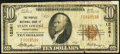 National Bank Notes:Pennsylvania, State College, PA - $10 1929 Ty. 1 The Peoples NB Ch. # 12261. ...
